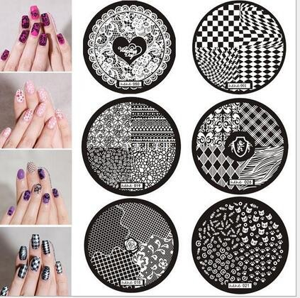 hehe 1-36 Series Nail Art Image Plate Stamper Stamping 36 Designs Manicure Template