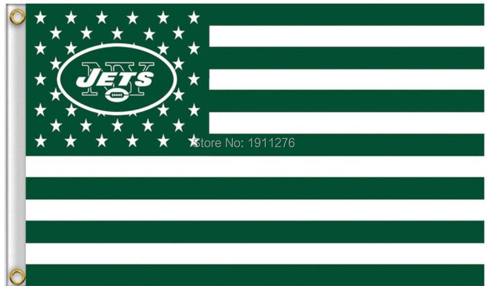 New York Jets ile New York Skyline Bayrak 3ft x 5ft Polyester New York Jets Banner Uçan Boyut No.4 4 Özel bayrak