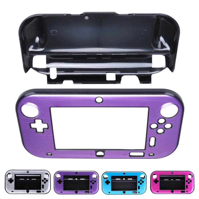 Hard Protective Case Cover Skin Shell Plastic + Aluminum Alloy Protective Case cover For Nintendo Wii U Gamepad Controller