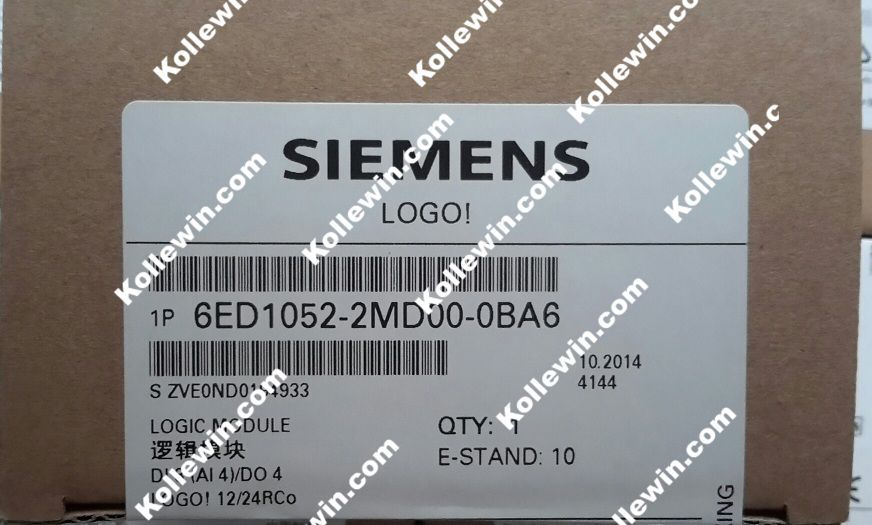 Orijinal SIMATIC 6ED1052-2MD00-0BA6, LOGO! 12/24RCO Mantık Modülü 6ED1 052-2MD00-0BA6, 8 DI (4AI)/DO 4, 6ED10522MD000BA6 Freeship