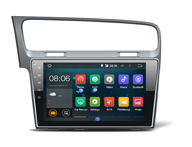 10.1 Quad core 1024*600 HD ekran Android 7.1 Araba GPS radyo Navigasyon VW Golf için 7 2014- ile 4G/Wifi, DVR OBD 1080 P