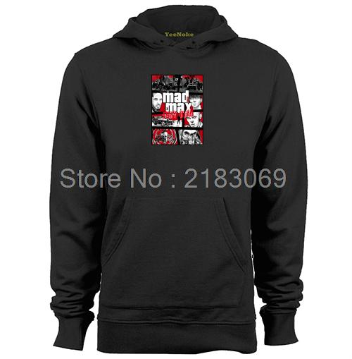 Mashup GTA Mad Max Fury Mens & Womens Serin Oyunları Hoodies Tişörtü